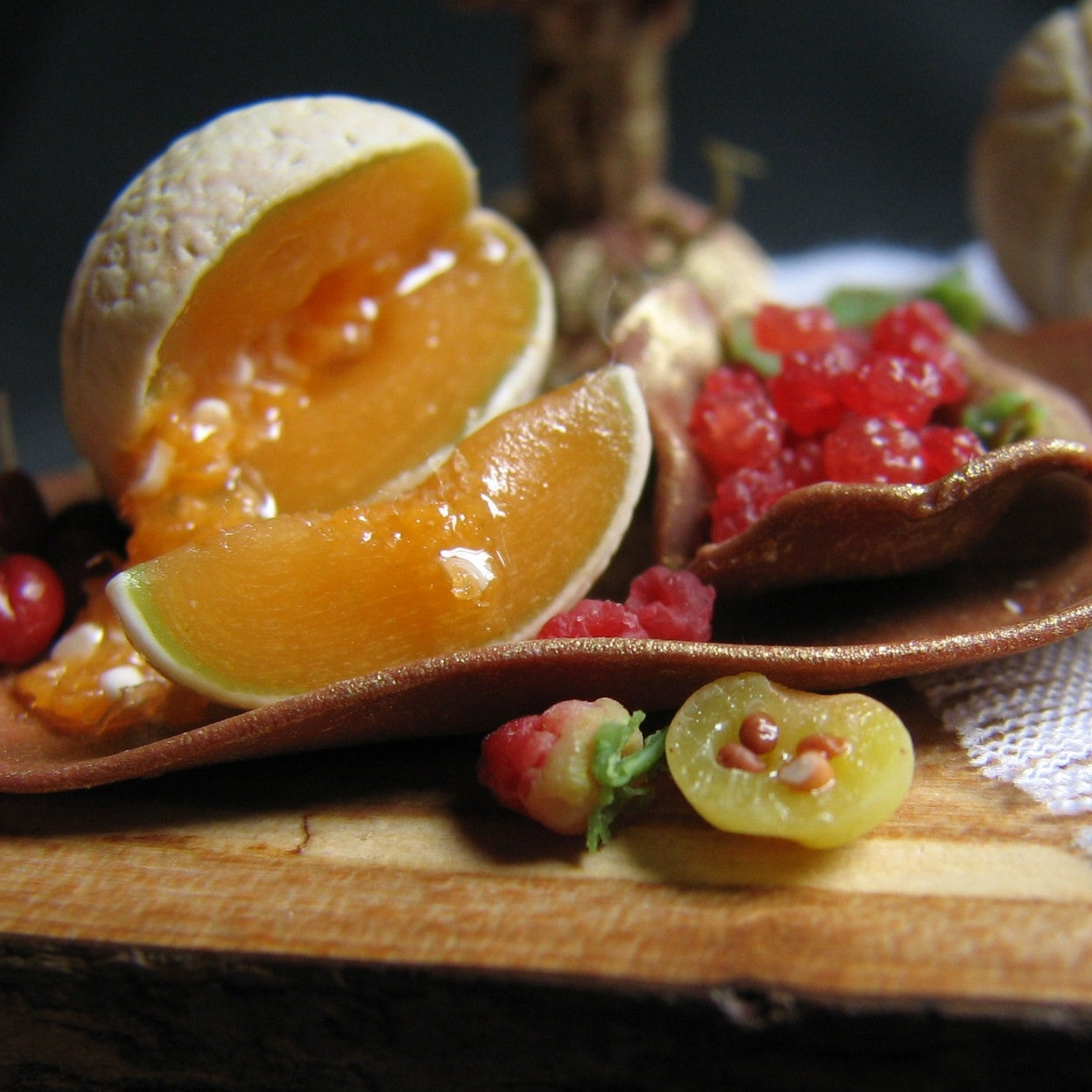 fruits chocolate